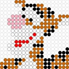 Tigger perler bead pattern