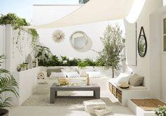 Kleiner Garten im Ibiza-Stil - melissa van der graaff - Dekoration Outdoor Living Rooms, Outdoor Spaces, Outdoor Decor, Outdoor Seating, Living Spaces, Outdoor Retreat, Outdoor Lounge, Living Area, Ibiza Stil