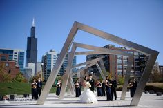 Chicago West Loop Wedding Photography! Bridal Party Photos with Willis Tower! Nakai Photography