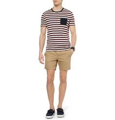 Acne Seymour Slim-Fit Cotton-Twill Shorts | MR PORTER