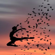Dominic Liam is an Greek base artist and his photography is very unique, creative and stunning. Wonderful Art Silhouette by Artist Dominic Photography. Dance Photos, Dance Pictures, Dancer Photography, Silhouette Art, Belle Photo, Art Drawings, Sunset, Poster, Painting