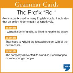 "See if you can come up with more sentences containing words with the prefix ""re"" and then, share your examples with us!"