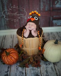 Custom Crochet Turkey Hat. $26.00, via Etsy.