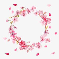 لقد رسمت أكاليل, ألوان مائية الزهور, الزهور, جولةPNG صورة