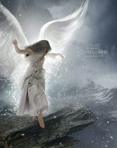 One day We all may have wings. I'll be waiting for that day, even if I have to live a few lives more. Angel Images, Angel Pictures, Angels Among Us, Angels And Demons, Angel Artwork, Angel Warrior, I Believe In Angels, Ange Demon, My Guardian Angel