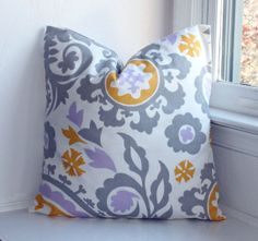 Suzani Pillow Cover 18x18 Mod by IvanTroyDesigns on Etsy, $25.00