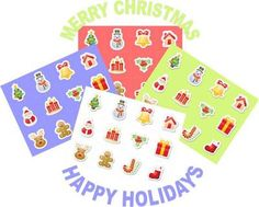 Free Printable Christmas | Holiday Labels and Tags: A super cute set of free printable Christmas tags and labels to wish our readers a Merry Christmas and Happy Holidays.  We have created these labels and