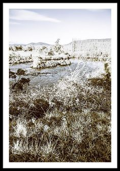 Frosted Winter Lake Framed Print featuring the photograph Snow Capped Lake by Jorgo Photography - Wall Art Gallery