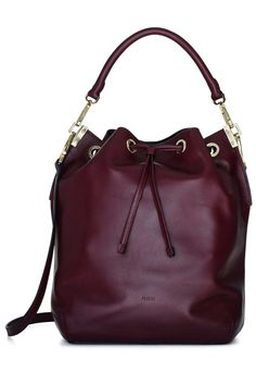 A Chic, Wine-Colored Bag to Carry Through Winter