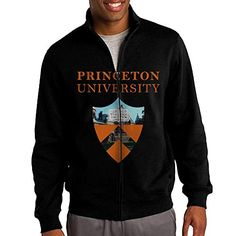8661e3ce5 ILKU Men s Princeton University Zip-Up Hoodies Jacket Black Size XXL