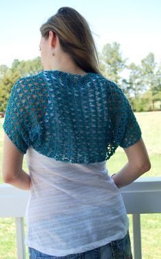 """Spring Shrug Pattern: It is a really simple and quick project. It is worked from side to side making it very easy to adjust to the size that you need. Posted by Liz, of """"Crochet in Color""""."""