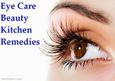 Eye Care Beauty - Kitchen Remedies