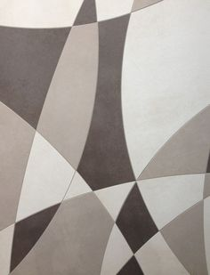 Modern Tile: Industrial collection from Floor Gres can be made to look like a massive puzzle for your floors or walls.