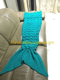 The Syira aka Chevron Mermaid Tail Blanket (Adult) — free crochet pattern – hanakomiblog