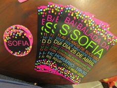 convite festa neon - Pesquisa Google