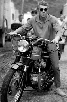 If I could look half as good as Steve McQueen on a cycle, I'd buy one tomorrow!  Sadly this man never really got his 'due' with regards to his great, quiet and true style.