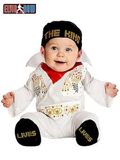 Newborn Elvis Onesie Costumeclass=