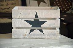 Holzkiste Stern Shabby M von Majalino auf DaWanda.com