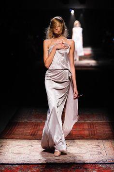 MAISON MARTIN MARGIELA Spring 2012 Silver Strapless Gown