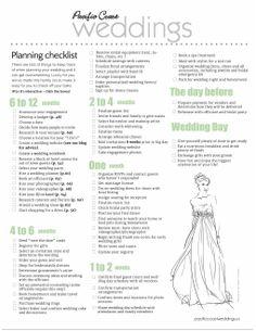 wedding checklist timeline