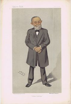 Although many experts in gross pathology came before him, Prof. Rudolf  Virchow is considered the father of 'cellular pathology'. This caricature is from  the Vanity Fair series of 'Men of the Day'