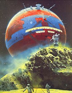 By Chris Foss. That's no moon, that's a space station.