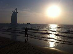 Burj al Arab i solnedgången!