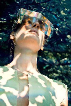 Bold Kaleidoscopic Shades - These Mrs Herskin Sunglasses are Avant-Garde (GALLERY)