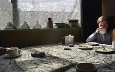 Irish lace table by Gina Marie Brocker, via Flickr
