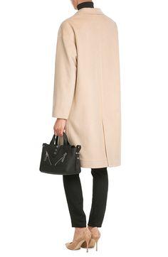 Mantel aus Wolle und Kaschmir look detail back