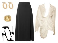 """""""Untitled #7779"""" by amberelb ❤ liked on Polyvore featuring The Row, Anissa Kermiche and Giuseppe Zanotti"""