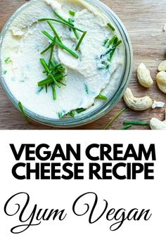 Try this delicious vegan cream cheese recipe. Perfect for a vegan bagel spread or simply a dip with raw veggies. This is the most creamiest, smooth and health vegan cashew cream cheese. Cashew Cream Cheese Recipe, Healthy Cream Cheese, Vegan Cashew Cheese, Vegan Cheese Recipes, Cream Cheese Recipes, Vegan Butter, Spicy Vegetarian Recipes, Cashew Recipes, Dairy Free Recipes