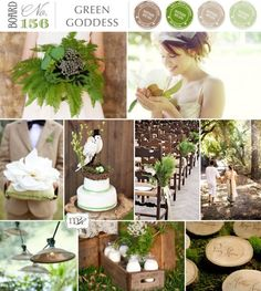 Forest Wedding Color Palette...I want this with pops of peachy pink!