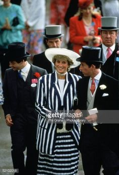 Diana Princess Of Wales With Prince Charles Walking Through The... News Photo | Getty Images
