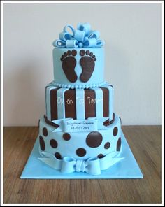 Baby boy Baby shower Cake  this would of been a much better baby shower cake for Ms. Leia.   :(