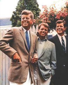 John F. Kennedy, Bobby Kennedy and Ted Kennedy
