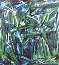 """Natalia Gonchorova, """"Green Forest,"""" 1913"""