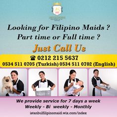 Istanbul Filipino Maids by AS Lifestyle Concierge and Real Estate Ltd. Sti.: Looking for Part time or Full time Filipino Maids?...