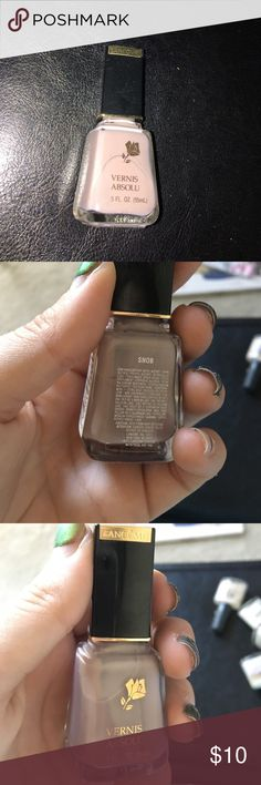 """Lancôme Vernis Absolu Nail Polish in Snob Lancôme Nail Polish in the shade """"Snob""""- a beautiful soft lavender. The flash makes it look a bit more pink. 4 in stock Lancome Makeup Brushes & Tools"""