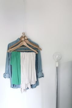 For towels? More corner tricks: Hang some hangers. | 23 Hacks For Your Tiny Bedroom