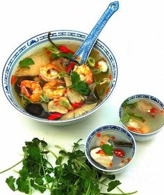 Delicious, hot, sour, and spicy Thai Tom Yum Soup is easy to make at home using these recipes. Discover the secrets of making perfect Tom Yum soup Spicy Chicken Soup, Chicken Soup Recipes, Fish Stock Recipe, Asian Recipes, Healthy Recipes, Thai Recipes, Dishes Recipes, Asian Foods, Delicious Recipes