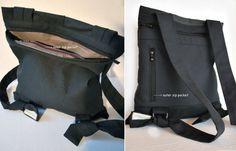 Zaino convertibile Crossbody bag grigio tela di misirlouHandmade