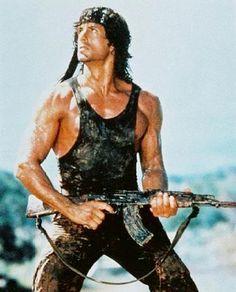 "Sly Stallone, ""Rambo"""