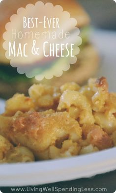 Best ever homemade mac & cheese--the ultimate comfort food!  Oh my goodness, this really is the best mac & cheese I've ever had.  This melt-in-your-mouth version uses freshly grated sharp cheddar and gouda for a flavor that is so good, you might cry.  Definitely a winner!