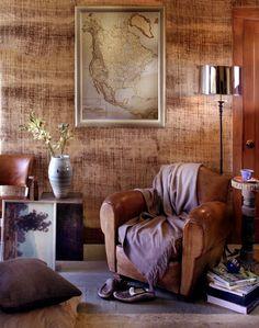 Woven wallcovering by Crezana.