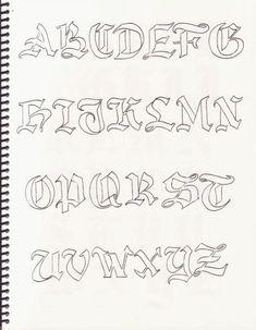 Caligrafía, abecedarios                                                       …