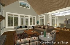 Craftsman style large open floor plan LG-2715-GA