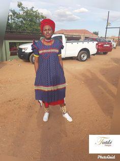 Pedi Traditional Attire, Sepedi Traditional Dresses, African Fashion Traditional, African Fashion Dresses, African Dress, African Jewelry, Sally, Fabrics, Cupcakes