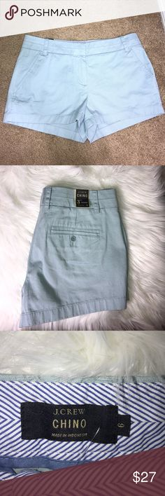 NWT J. Crew Light Blue Chino Shorts Brand new with tags! Light blue chino shorts. Perfect for a spring or hot summer day. Reasonably offers are always welcomed J. Crew Shorts Jean Shorts
