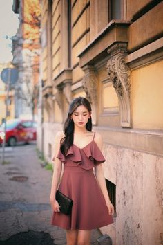 Korean dress formal, korean style dress, korean outfits, ulzzang fashion, f Korean Fashion Dress, Korean Fashion Casual, Korean Street Fashion, Ulzzang Fashion, Korean Outfits, Asian Fashion, Trendy Fashion, Fashion Models, Fashion Dresses